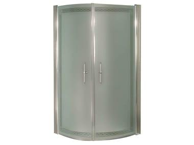 Cabine de douche d'angle semi-circulaire ARCADIA | Cabine de douche semi-circulaire