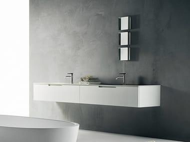 Mobile lavabo sospeso in Corian® DUEMILAOTTO | Mobile lavabo in Corian®