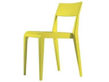 Stackable lacquered ash chair ARAGOSTA | Lacquered chair