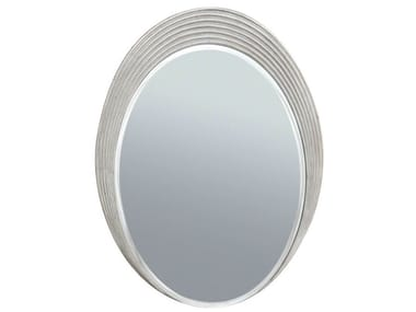 Oval wall-mounted framed mirror ALLISON