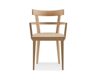 Beech chair with armrests CAFÈ | Chair with armrests