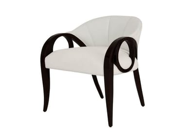 Upholstered fabric easy chair with armrests SUE