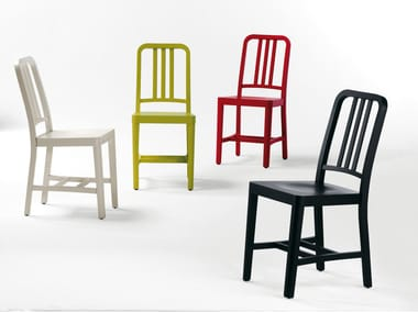 Lacquered beech chair CO2 | Chair