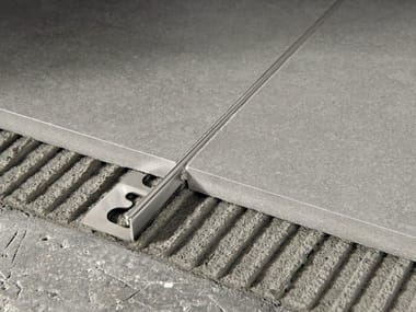 Brushed steel Flooring joint PROTERMINAL | Brushed steel Flooring joint
