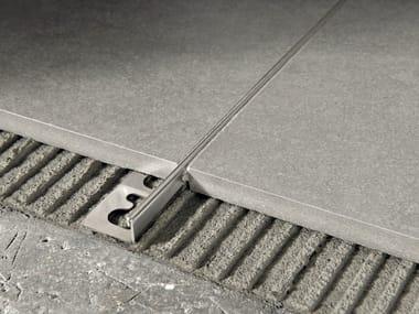 Giunto per pavimento in acciaio satinato PROTERMINAL | Giunto per pavimento in acciaio satinato
