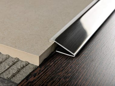 Glossy steel edge profile for floors PROPRESS 712