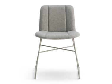 Sled base fabric chair HIPPY | Sled base chair