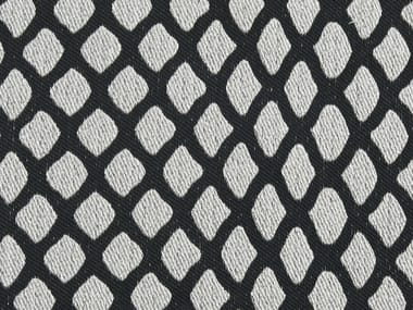 Pique fabric with graphic pattern CAVIAR