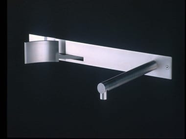Wall-mounted stainless steel washbasin tap CUT | Washbasin tap