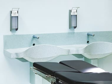 Double wall-mounted Solid Surface® washbasin AVONITE | Washbasin