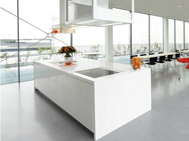 Solid Surface kitchen with island GETACORE® | Kitchen