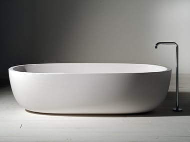 Oval Cristalplant® bathtub ICELAND | Bathtub