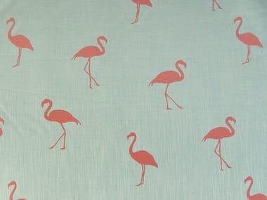 Upholstery fabric with graphic pattern FLAMINGO