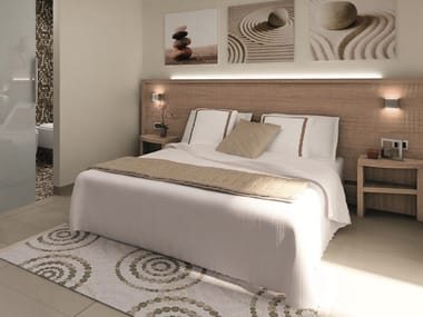 Double bed with high headboard FASHION | Hotel bed