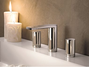 3 hole countertop washbasin tap MILANO - 6204