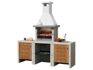 Cucina da esterno a gas con barbecue MELODY 3 Acqua