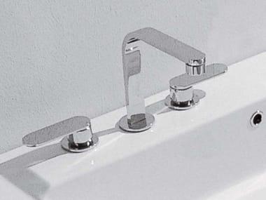 3 hole countertop washbasin tap ONE | 3 hole washbasin mixer