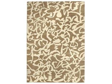 Patterned handmade rug BRUSH | Natural fibre rug