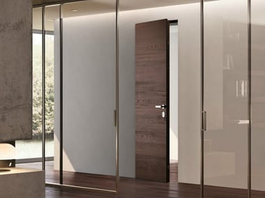 Flush-fitting wenge safety door FILOMURO | Safety door
