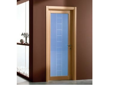 Hinged stained glass door GENIA | Stained glass door