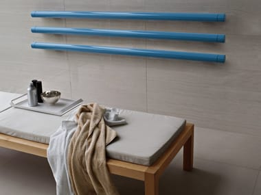 Horizontal wall-mounted decorative radiator T.B.T. | Horizontal decorative radiator