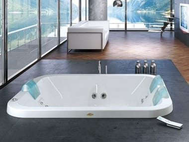 Whirlpool built-in bathtub with chromotherapy AQUASOUL EXTRA | Built-in bathtub
