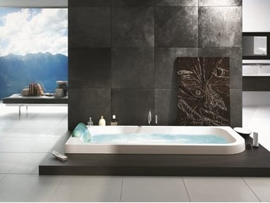 Whirlpool built-in bathtub with chromotherapy AQUASOUL LOUNGE | Built-in bathtub