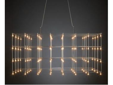 LED nickel pendant lamp UNIVERSE SQUARE