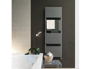 Chrome wall-mounted towel warmer KUBIK | Chrome towel warmer