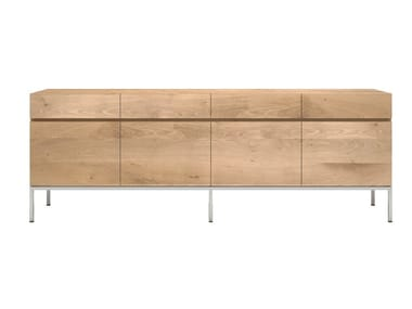 Solid wood sideboard with doors and drawers OAK LIGNA | Sideboard with drawers