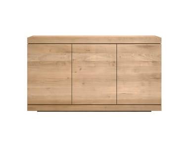 Oak sideboard with doors OAK BURGER   Oak sideboard
