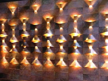 Copper wall lamp / 3D Wall Cladding LUM PANEL