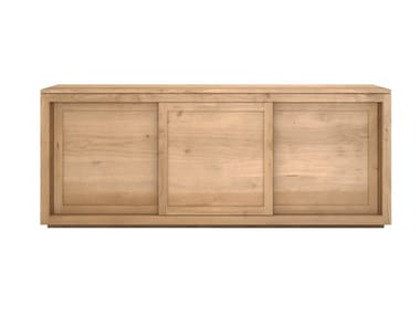 Solid wood sideboard with sliding doors OAK PURE | Solid wood sideboard