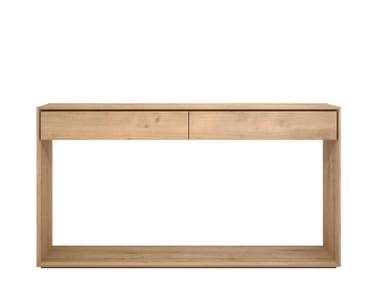 Solid wood console table with drawers OAK NORDIC | Console table