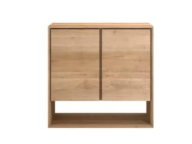 Solid wood sideboard with doors OAK NORDIC | Sideboard