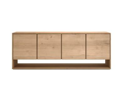 Solid wood sideboard with doors OAK NORDIC | Solid wood sideboard