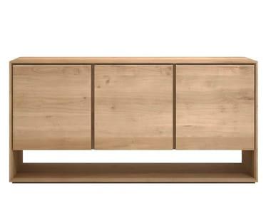 Oak sideboard with doors OAK NORDIC | Oak sideboard