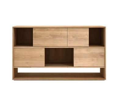 Solid wood sideboard with sliding doors OAK NORDIC   Sideboard with sliding doors