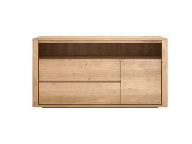 Solid wood chest of drawers OAK SHADOW | Chest of drawers