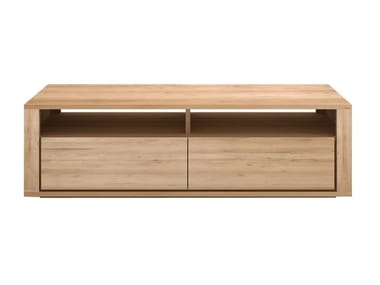 Low solid wood TV cabinet OAK SHADOW | TV cabinet