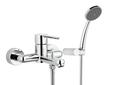 Miscelatore per vasca a muro monocomando con doccetta NOIR | Miscelatore per vasca