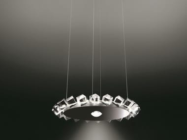 Direct-indirect light pendant lamp COLLIER UNO