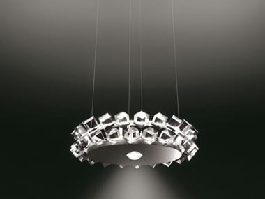 Direct-indirect light pendant lamp COLLIER DUE