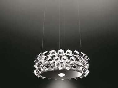 Direct-indirect light pendant lamp COLLIER TRE