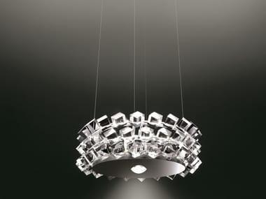 Direct-indirect light pendant lamp COLLIER TRE