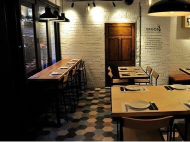 Indoor/outdoor cement wall/floor tiles HEXAGON SOLID COLOR