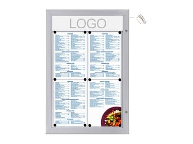 Wall-mounted freestanding double-sided notice board Bacheca porta menù