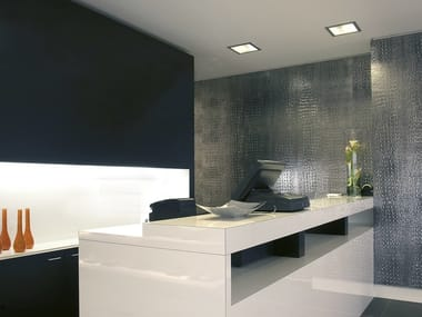 Polystyrene wall tiles with leather effect STRUCTURE LINE | Wall tiles with leather effect