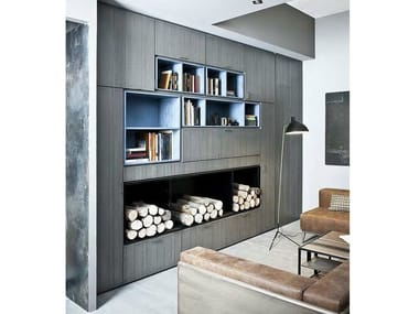 Sectional lacquered storage wall 5PUNTO7 | Storage wall