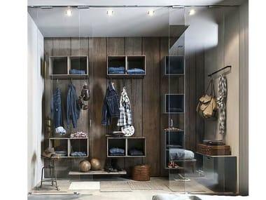 Sectional walk-in wardrobe 5PUNTO7 | Walk-in wardrobe